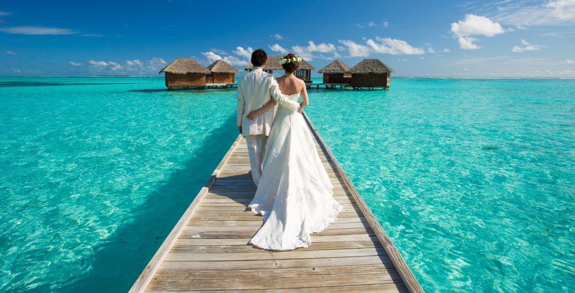 Hochzeit zu zweit malediven